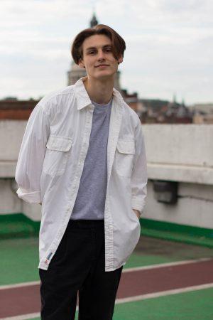 white levi shirt