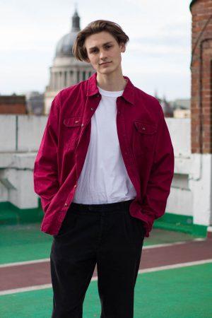 red wrangler shirt