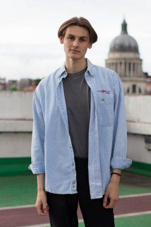 Pale blue Lee shirt