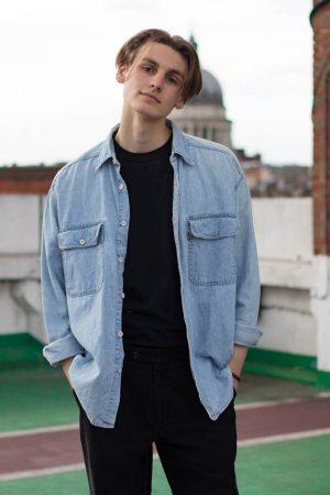 Blue Levi shirt