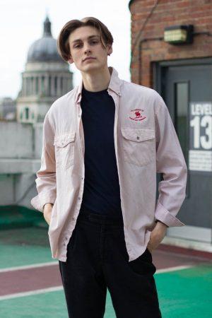 Beige Pink Wrangler Shirt