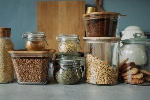 food stored in jars