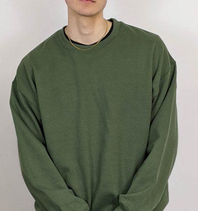 Military Green Gildan Sweatshirt