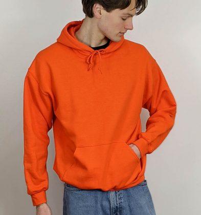 Orange Gildan Hoodie