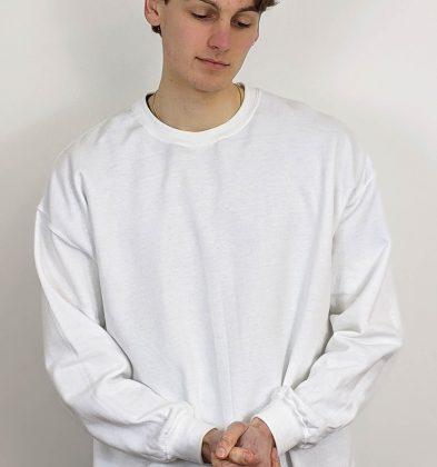 White Gildan Sweatshirt
