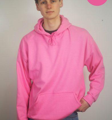 Bright Pink Gildan Hoodie